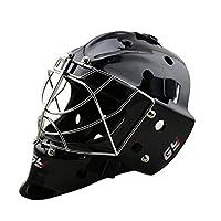 GY Professional Durable Cat Eye Cage Ice Hockey Goalie Mask (Black, L)