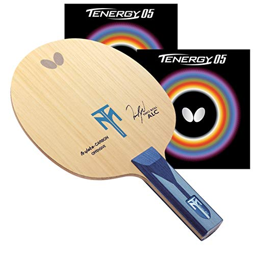 Butterfly Timo Boll ALC Pro-Line Table Tennis Racket - ST Blade - Tenergy 05 2.1mm Red and Black Rubbers