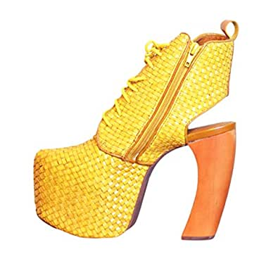 Hipster Yellow Heel For Women