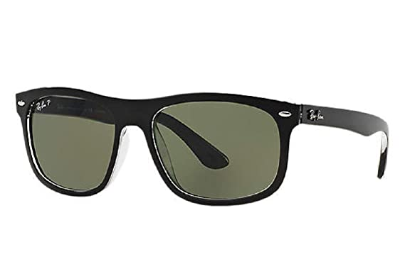 c5c6be333a9c3 Ray-Ban RB4226 Square Unisex Sunglasses (Black Frame Green Classic Lens  605271