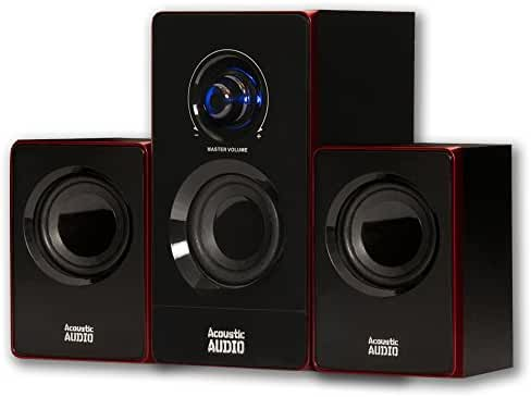 Acoustic Audio by Goldwood 2.1 Speaker System 2.1-Channel Home Theater Speaker System, Black (AA2103)