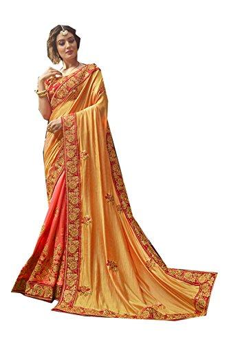 Designer Party 3 Da Sarees Sari Yellow Wear for Traditional Wedding Women Indian Facioun x70xgY