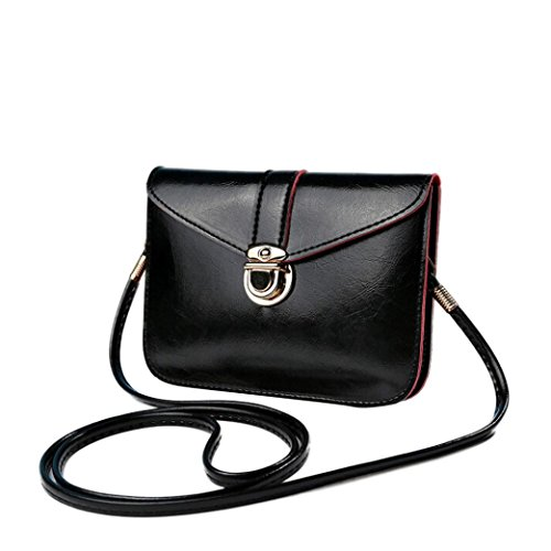 Handbag,Ba Zha  Fashion Zero Purse Bag Ladies Leather Handbag Single Shoulder Bag Women Messenger Phone Bag Small Body Bag Girls Totes Flap Simple Shoulder Bag Black