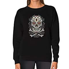 Day of the Dead also known as Dia de los Muertos is an interesting holiday celebrated in central and southern Mexico during the chilly days of November 1 & 2. This top is printed with the well familiar skull and bone. . Premium quality sw...