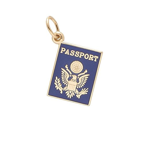 14k Gold Travel Charm - 7