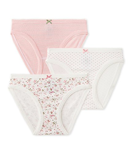 PETIT BATEAU GIRLS 3 PC. PRINTED UNDERWEAR/PANTIES (SIZE 10 STYLE 25856 GIRLS), MultiColor Petit Bateau Cotton Panties