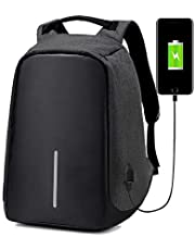 OZSTOCK® Anti-Theft Laptop Backpack Travel Bag Water Repellent w/USB Port Travel Busines (Black)
