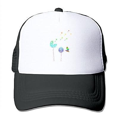FTR26S Cute Hummingbird Rainbow Dandelion Printing Unisex Adult Funny Mesh Trucker Cap Hat Snap Back Meshback Cap Adjustable