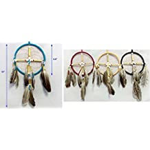 """Hand Made Tribal Dream Catchers Wall Decoration: 6.5"""" 6 Pc Pack (NpDc86CR-6 Z)"""