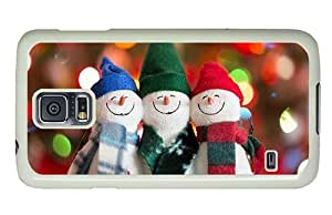 Hipster coolest Samsung Galaxy S5 Case happy snowman PC White for Samsung S5