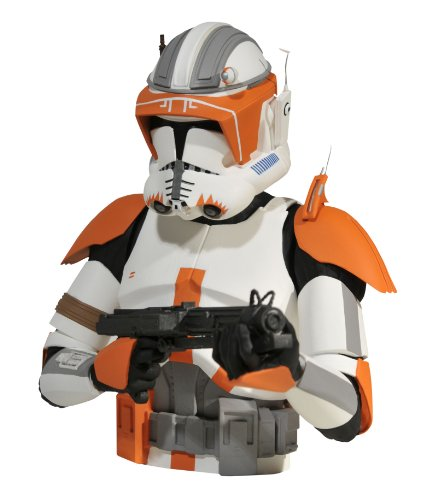 Diamond Select Toys Star Wars: The Clone Wars: Commander Cody Bust - Bust Fett Bank Boba