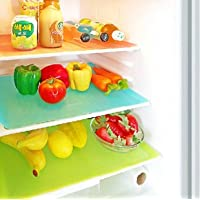 Kuber Industries™ PVC Refrigerator Drawer Mats/Fridge Mats/Multi Purpose Mats Set of 6 Pcs Multi Color