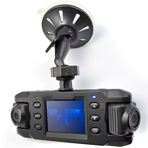 RONSHIN Wide-angle Dual-lens Car DVR Car Camera Recorder With GPSX8000 HD 140¡ã