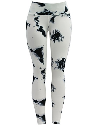 472bf8a9a6 BUBBLELIME High Compression Printed Yoga Pants UPF30+ Printed Running Pant  4 Way Stretch