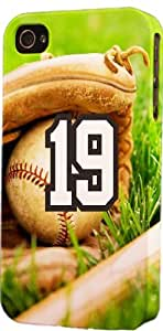 Baseball Sports Fan Player Number 19 Plastic Snap On Decorative iphone 6 plus Case