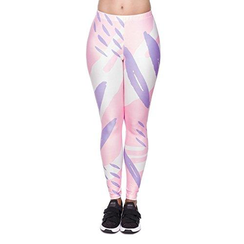 Collant Stampa Elastici Up Yoga Colore con Push Leggins 3D Pantaloni Fliegend 4 da Pantaloni Vita Leggings Sportivi Alta Donna qfqWp86Z