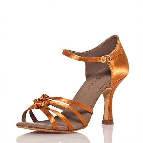 chaussures Cadeaux Bronze 43 YFF femmes danse latine Dance 8cm Dance danse Tango AFZxqwF8d
