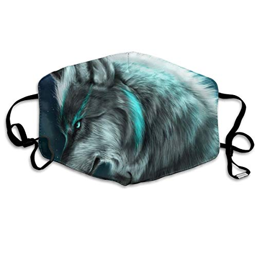 (Wolf Breathable Face Mask Best Comfortable,Reusable - Filters Dust,Pollen,Allergens,& Flu Germs Dust)
