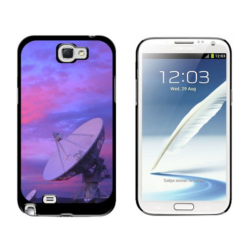 Graphics and More Very Large Array VLA Radar Telescope Dishes New Mexico at Sunset - Snap On Hard Protective Case for Samsung Galaxy Note II 2 - Black Very Large Array Telescope