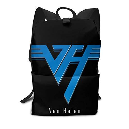 Outdoor Leisure Sports School Travel Backpack Casual Daypack-Van Halen