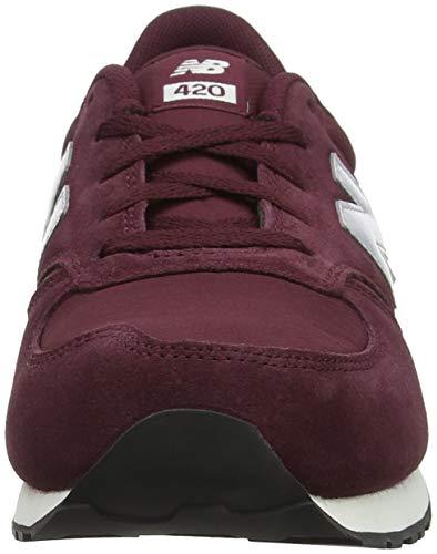 New Un Rouge 420 grey burgundy Enfant Mixte Balance Baskets 8rZH8q