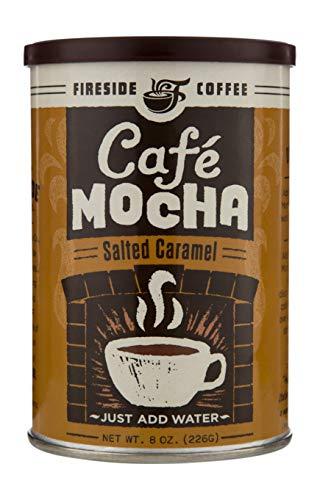 Fireside Coffee Instant Cafe Mocha Salted Caramel 8 Oz. Canister