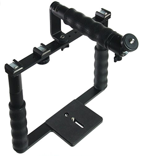 ALZO Cinema Camera Transformer Rig Full Gear Kit, Cage Bracket with Shoe Mounts and Hand Grips by ALZO Digital