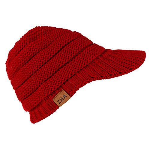 - Putars Knit Baseball Cap,Adult Women Men Winter Crochet Hat Warm Solid Color Toque Warm Cap