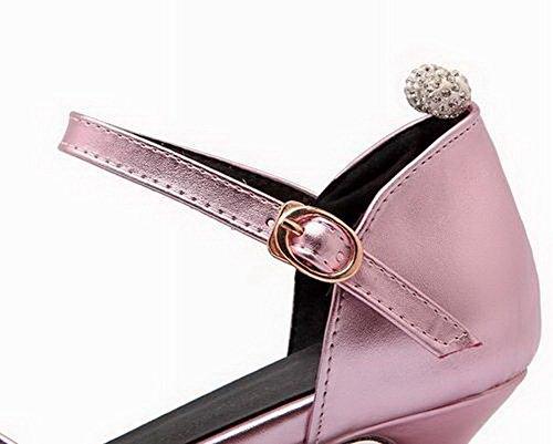Fibbia CCALLP013008 Rosa VogueZone009 Punta Tacco Puro Sandali Donna Chiusa Medio CX4q1wX