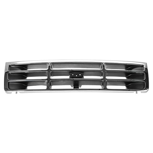 1996 Ford F450 Pickup Truck (Grille Grill Chrome & Silver Front for Ford Bronco F150 F350 F250 Pickup Truck)