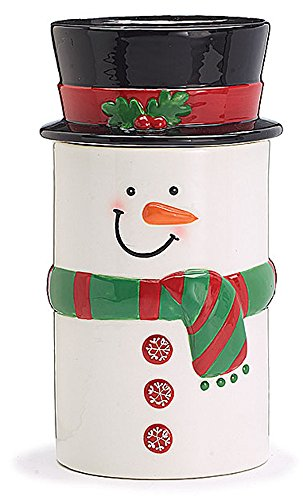 Hand Painted Ceramic Snowman - Holiday Hand-Painted Ceramic Snowman Cookie Jar