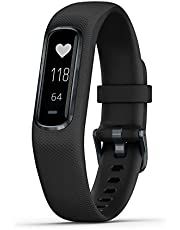 Garmin vivosmart 4, Activity and Fitness Tracker w/ Pulse Ox and Heart Rate Monitor, Black