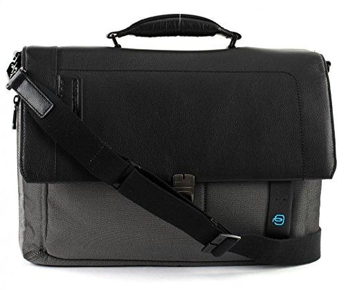 Piquadro - Borsa a cartella porta PC/iPad da Uomo, Grigio