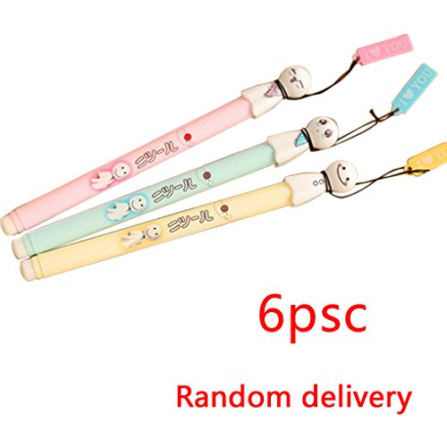 MuLuo-6Pcs-Ball-Point-Pen-Cute-Cool-Japanese-Sunny-Doll-Gel-Ink-Pen-School-Supplies