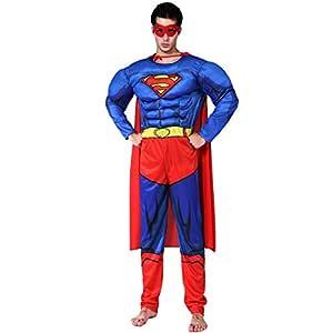nihiug Traje De Halloween Traje De Superman Adulto Traje Masculino ...