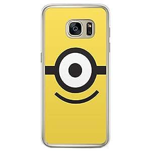 Loud Universe Samsung Galaxy S7 Edge Minion I Printed Transparent Edge Case - Yellow/Black/White