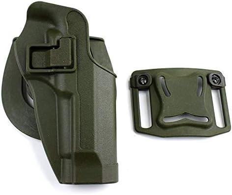 NO LOGO Lixia-Gun, Pistola de Combate Militar Funda de Pistola Funda de Pistola Táctica Funda de Pierna Derecha for Beretta 92/96 / M9 Pistola con Bolsa de Revista (Color : Green Belt)