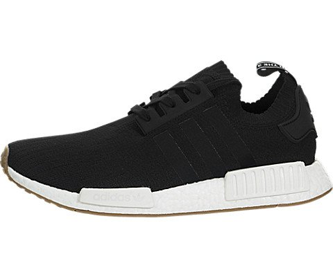 adidas NMD_R1 Primeknit Gum Pack Men's Shoes Black/Gum/Running White by1887 (9 D(M) US)