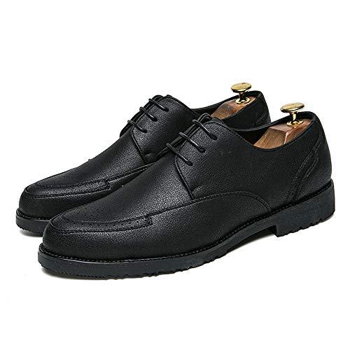 43 Xujw lavoro punta da rotonda Scarpe Nero Oxford Basse 2018 Color Nero Dimensione casual EU Scarpe da in con Stringate stringate shoes pelle uomo morbide Scarpe rU7gqr