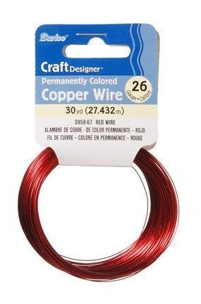 Beads Darice Copper (Darice Craft Designer Permanently Colored Copper Wire - RED)