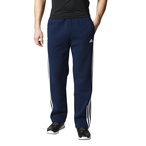 adidas Men's Essentials 3 Stripe Regular Fit Fleece Pants, C