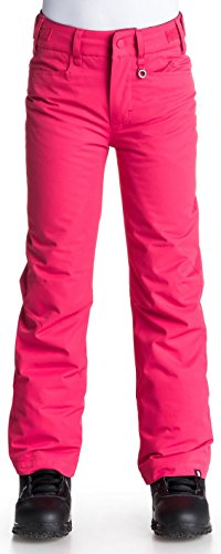 Roxy Big Girls' Backyard Snow Pant, Azalea, 12/Large (Roxy Snow Pants)