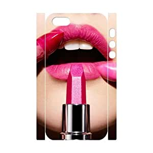 Lipstick Custom 3D Cover Case for Iphone 5,5S,diy phone case ygtg555750