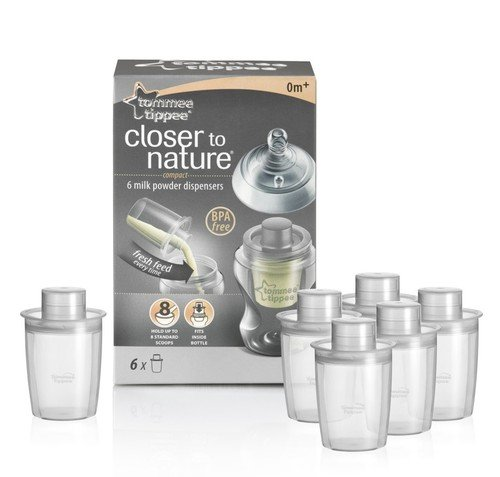 Tommee Tippee Closer to Nature Baby Milk Powder Dispensers 6 Pack Brand New the Best Quality Fast Shipping Ship Worldwide From Hengheng Shop (Powder Nature Milk)