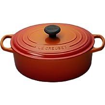 Le Creuset Signature Enameled Cast-Iron 1-Quart Oval French (Dutch) Oven, Flame
