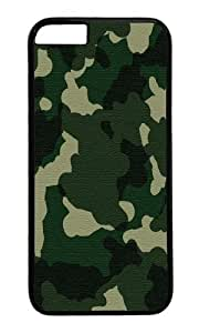 iPhone 6 Plus Case,VUTTOO iPhone 6 Plus Cover With Photo: Green Camo For Apple iPhone 6 Plus 5.5Inch - PC Black Hard Case
