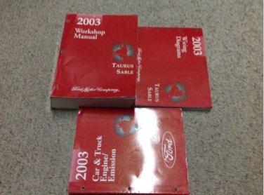 2003 FORD TAURUS MERCURY SABLE Service Shop Repair Manual Set W EWD + Facts OEM