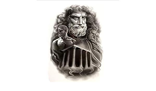 ruofengpuzi Adesivo tatuaggioZeus Temple Impermeable Etiqueta ...
