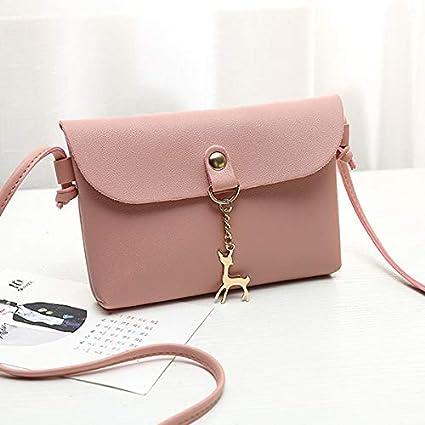 Amazon.com: Women Messenger Bags Cross Body Bag PU Leather ...