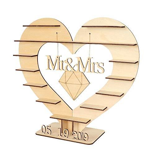 (Best Quality - Party DIY Decorations - OurWarm Mr Mrs Wedding Chocolate Heart Tree Ferrero Rocher Chocolate Stand Wedding Display Stand Centrepiece Candy Bar Decor - by Viet JK - 1 PCs)